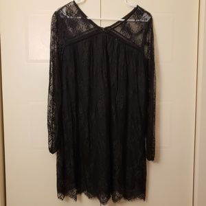 Black lace dress gothic witchy dress